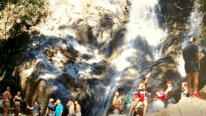 trek to waterfall Chiang Mai Thailand